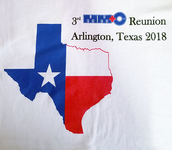 Custom family reunion shirt design - white shirt with Texas flag within Texas state outline