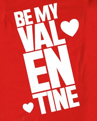 custom Valentine's Day t-shirt - a red t-shirt design with
