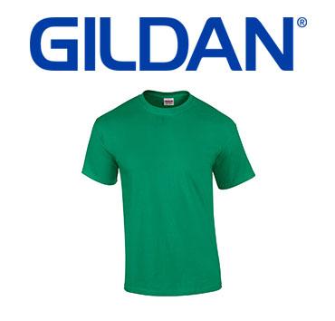 Basic green Gildan brand t-shirt