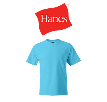 Light blue Hanes brand t-shirt