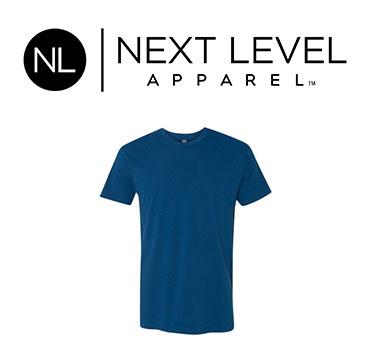 Dark blue Next Level brand t-shirt