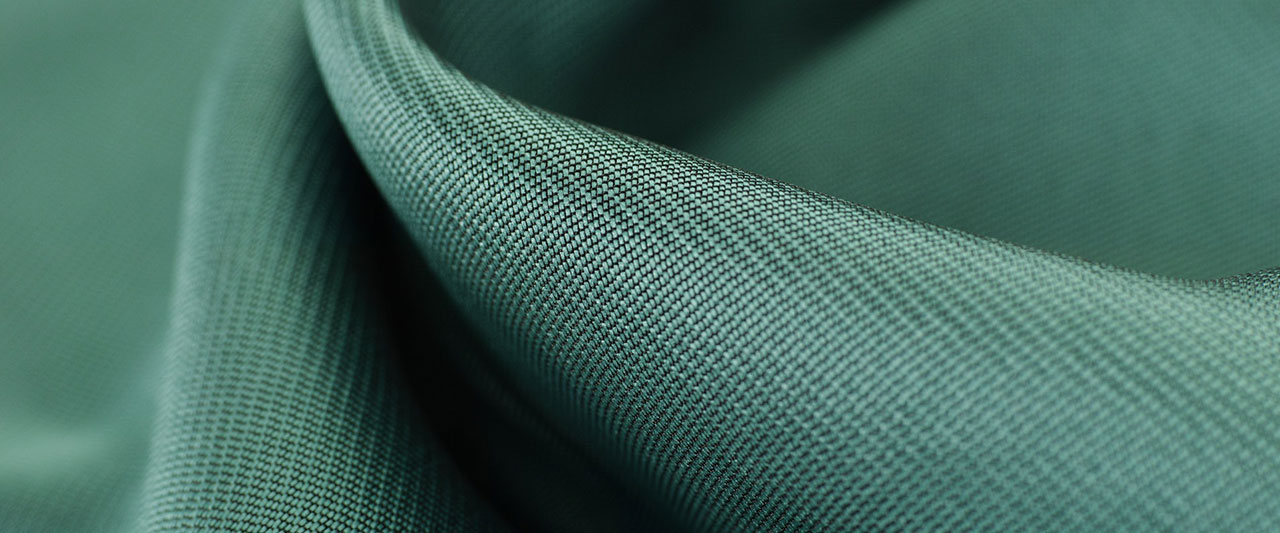 Close-up of polyester fabric