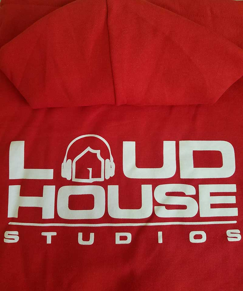 custom red hoodie - Loud House Studios