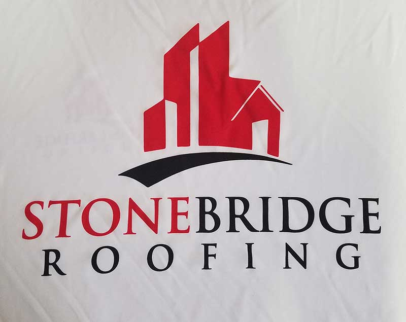 custom white shirt - Stone Bridge Roofing