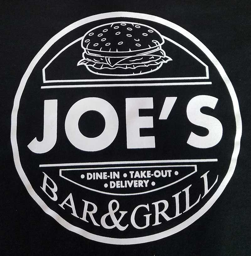 custom black shirt - Joe's Bar & Grill