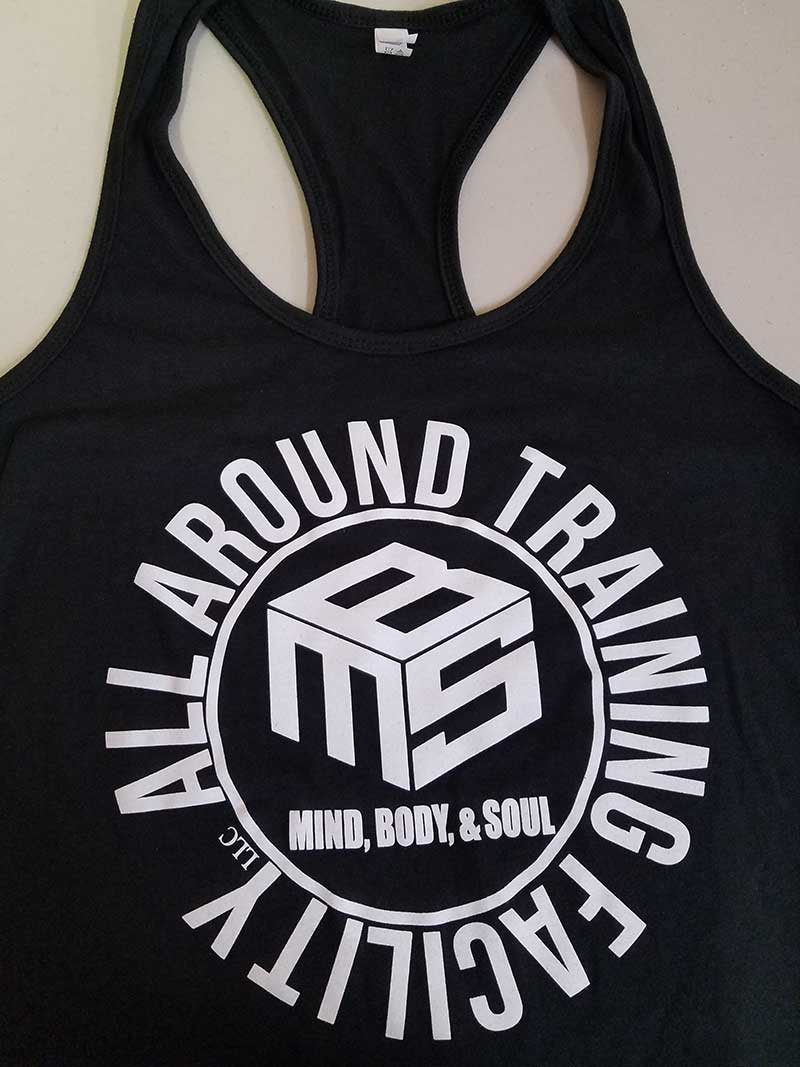 custom black athletic tank top design - Training Facility