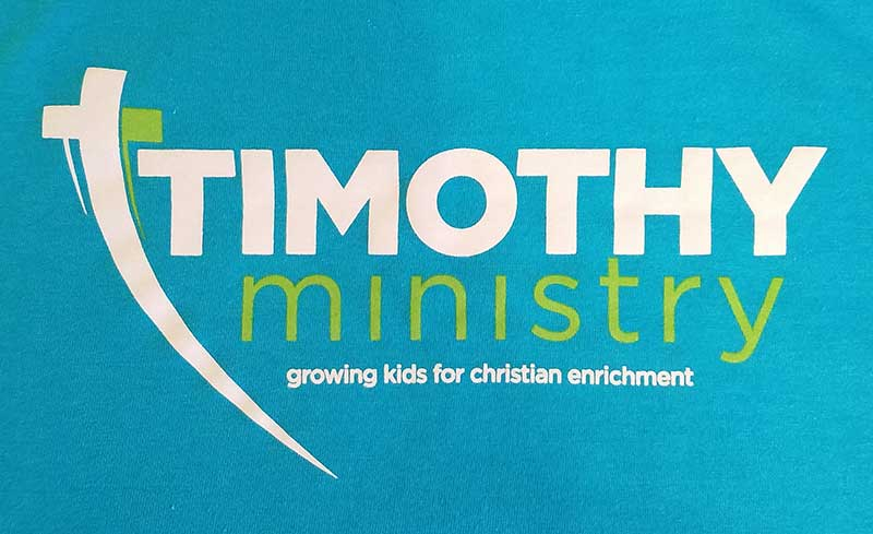 custom blue t-shirt - white and green church ministry design