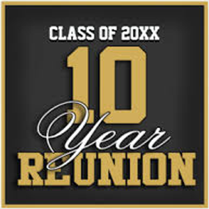 Custom 10-year class reunion t-shirt