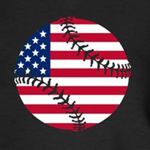 Custom baseball shirt American flag design